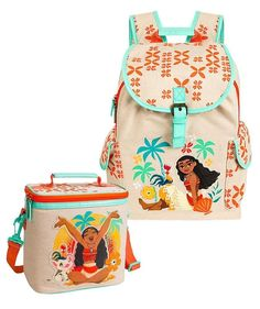 4342e7dc11 Disney Moana Backpack and Insulated Lunch Tote Bundle  TheDisneyStore   girls Insulated Lunch Tote