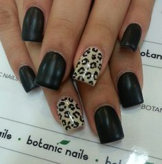 Nails Coffin Black Leopard Prints Ideas For 2019 - Nails Coffin Black Le. - Nails Coffin Black Leopard Prints Ideas For 2019 - Nails Coffin Black Leopard Prints Ideas For 2019 - - Brown Nails, Black Nails, How To Do Nails, Fun Nails, Leopard Print Nails, Leopard Prints, Animal Prints, Botanic Nails, Silver Glitter Nails