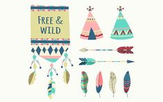 Free Boho Vector Elements – Patterns, Cards & Background