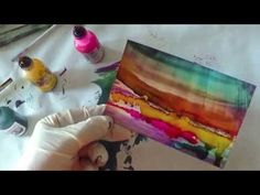 Citra Solv & Alcohol Ink Dreamscaping Slideshow Demo - YouTube