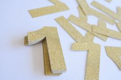 Shimmer sparkle confetti numbers table scatter by Littlebitslane