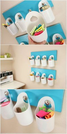 14 Easy DIY Plastic Bottle Projects - Vinyl Bottles are something you'll surely see on your residence, some may be new while some may be old. Plastic Bottle Crafts, Recycle Plastic Bottles, Detergent Bottle Crafts, Eco Deco, Bleach Bottle, Recycled Bottles, Craft Storage, Plastic Storage, Storage Basket