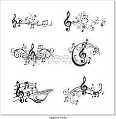 Set Musical Notes Illustration - in Vektor - Set Musical Notes Illustration in Vektor Lizenzfreie Bilder La mejor imagen sobre tattoo drawings p - Music Tattoos, Body Art Tattoos, Tatoos, Music Symbol Tattoo, Bone Tattoos, Sleeve Tattoos, Clipart, Tattoo Musik, Music Drawings