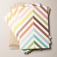 Multi-color chevron notecards