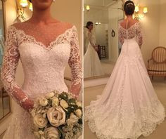 √ 43 affordable wedding dresses with sleeves 13 Affordable Wedding Dresses, Dream Wedding Dresses, Bridal Dresses, Wedding Gowns, Beautiful Bride, Beautiful Gowns, Weeding Dress, Long Sleeve Wedding, Dream Dress