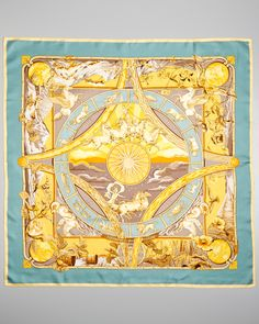 "Hermes ""Rythmes du Monde"" by Laurence Bourthoumieux Silk Scarf"