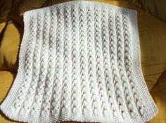photo tricot modele tricot couverture bébé facile 4