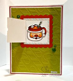 Your Next Stamp - Little Peek a Boo Door Die, Sweet Holiday Greetings, Green Apple Glittered Gumdrops