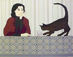 Meditation and Minou by Will Barnet
