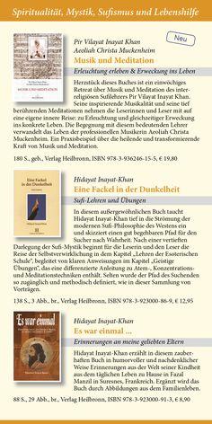 Katalog 2015 vom Verlag Heilbronn -  Seite 11 - Sufibücher: Musik und Meditation von Pir Vilayat Inayat Khan und Aeoliah Christa Muckenheim, Eine Fackel in der Dunkelheit-Sufi-Lehren, Es war einmal... eine Biographie von Hidayat Inayat-Khan.   www.verlag-heilbronn.de