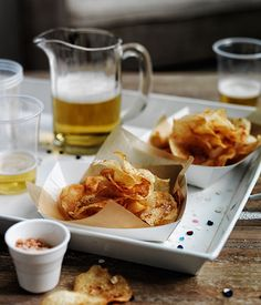 Smoked salt and vinegar chips recipe | Gourmet Traveller recipe - Gourmet Traveller