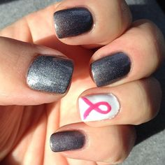 Awareness nail art design | pink awareness nails | Breast Cancer Awareness Month: 50 Nails To Support The Cause