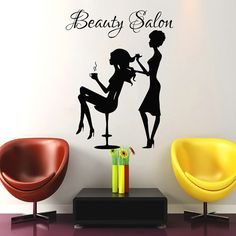 Wall Decal Beauty Salon Hair Salon Fashion Girl Woman Haircut Hairdressing…
