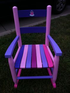 Front of chair painted for Rylee (Jonathan's girl)