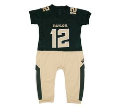 Baylor University Bears football uniform onesie pajama set