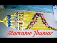 Macrame Simple & Beautiful Design Jhumar !! Tiutorial - YouTube