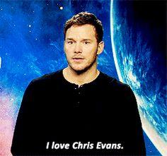 When someone asks about my love life | Chris Pratt | I love Chris Evans