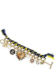 NAUTICAL ROPE CHARM TOGGLE BRACELET BLUE MULTI accessories jewelry bracelets fashion