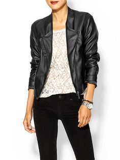 Tinley Road Easy Vegan Leather Jacket   Piperlime
