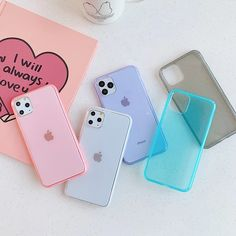 Clear Candy Color Phone Case For iphone 11 Max Cover Fashion Anti Knock Mirror silicon Case Cute Phone Cases, Iphone Phone Cases, Color Phone, Accessoires Iphone, Aesthetic Phone Case, Coque Iphone, Iphone Accessories, Iphone 11 Pro Case, Apple Products