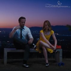 Buy Emma Stone La La Land Mia Yellow print Dress, Cosplay Costume Party Evening Dresses For Women Girls Halloween Dance Party. Emma Stone, Beloved Movie, Perfect Movie, Movie Shots, Cosplay Costume, Happy Birthday Funny, Movie Memes, Cute Songs, She Movie