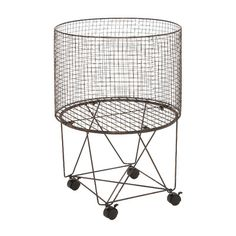 Woodland Imports Striking Metal Storage with Caster