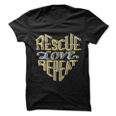Rescue Love Repeat - Black