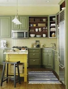 Ideas For Kitchen Cabinet Color Yel Html on