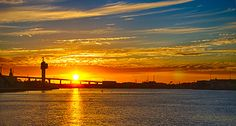 Sunset at Melbourne harbour