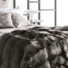 The world's most luxurious throw by Frette, only $18,000. blanket, fox, dream, fur decor