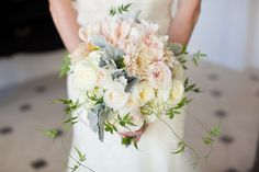 Beautiful bridal bouquet from Camilla Couture Floral, photos by Melissa Musgrove Photography | junebugweddings.com
