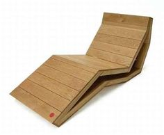 The CH001 Deck Chair Folds Away for Convenient Storage #furniture trendhunter.com