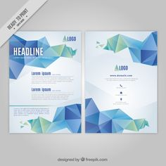 Abstract business flyer Free Vector