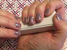 #BoysenberrychevronJN Jamberry nail wraps! Super adorable!