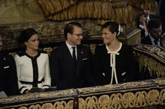 Church service at the Cathedral of Stockholm, Stockholm in accordance with the opening of the Swedish Parliament on Sept. 15, 2015. Swedish Crown Princess Victoria, Prince Daniel and Princess Sofia