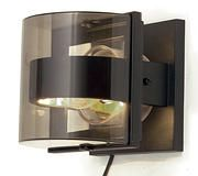 Delta Wall Light with Cross Bar c/w Smoked Glass - Graphite