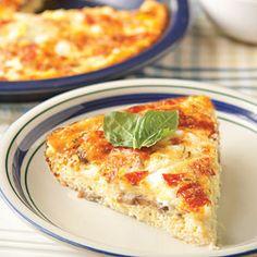 Crustless Pizza Quiche | MyRecipes.com
