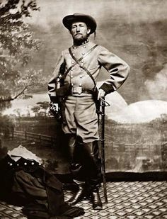 """Confederate raider and cavalry commander General John S. Mosby, the famed """"Gray Ghost"""" of the Civil War. Mosby raised a regiment of Confederate Raiders (or rangers, depending on your perspective) which was one of the most effective of the Civil War. He could operate deep behind enemy lines with impunity. He once kidnapped a Union General from his residence."""