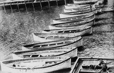 April 1912 The Titanic's lifeboats are returned to the berth of the White Star Line in New York.
