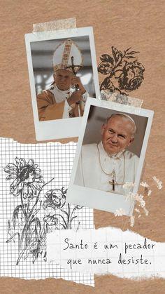 Catholic Wallpaper, St John Paul Ii, Juan Pablo Ii, Divine Mother, Catholic Saints, God Loves Me, Wallpaper Quotes, Gods Love, Instagram Story