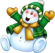 Snowman lol he has a belly button....so cute.