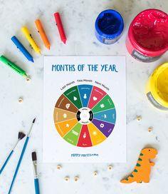 Preschool Printables, Preschool Worksheets, Activities For Kids, Monthly Themes For Preschool, Homeschool Kindergarten, Homeschool Curriculum, Montessori Preschool, Tracing Worksheets, Printable Calendar Template