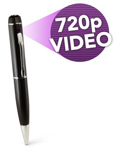 ThinkGeek :: Spycam HD Video Pen Camera.  Will be great when I get my private investigation license.