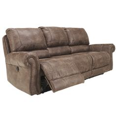 Signature Design by Ashley Oberson Brown Reclining Power Sofa (Brown Power Sofa) (Foam)  sc 1 st  Pinterest : bronson recliner - islam-shia.org