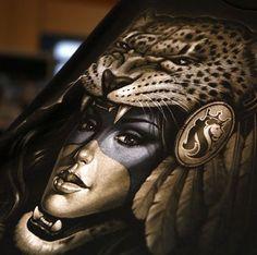 a5514e60e20 Image result for og abel tattoos Aztec Warrior Tattoo