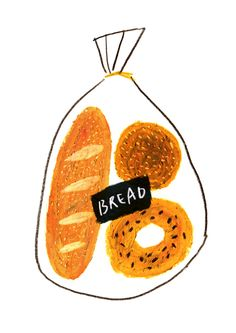 53 Ideas for bread illustration design art Art And Illustration, Illustration Inspiration, Illustrations And Posters, Ideas Scrapbook, No Bad Days, Food Drawing, Oeuvre D'art, Food Art, Art Paintings