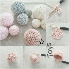 Free pattern for crochet balls or balls, # pattern # balls # crochet ., Free pattern for crochet balls or balls, # pattern # balls # crochet Crochet Diy, Crochet Ball, Crochet Gifts, Crochet Hooks, Beaded Crochet, Crochet Blankets, Knitting Projects, Crochet Projects, Sewing Projects