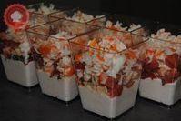 Verrines mousse de thon, tomates et surimi - Leela Rex - Trend Ideas Tasty Movie, Good Food, Yummy Food, Comida Latina, One Pot Pasta, Night Snacks, Cooking Tips, Entrees, Brunch