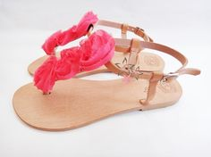 Coral Roses / Bridal Sandals / Wedding Sandals / by Twininas