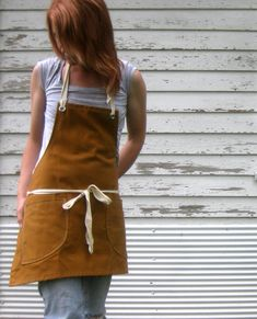 Canvas Utility Apron for Him or Her in the Kitchen Workshop Studio in Canvas Apron No. 1 on Etsy, $38.00 - have this one and love it
